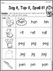 Kindergarten Phonics Practice Pack Unit 2