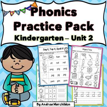 Kindergarten Phonics Unit 2