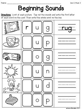 Phonics Writing Worksheets For Kindergarten