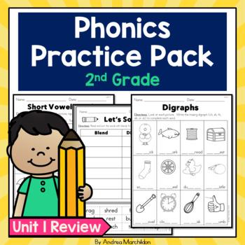 Phonics Practice Pack - Unit 1 Second Grade Review