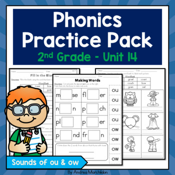Phonics Practice Pack Unit 14 - Second Grade Sounds of ou & ow