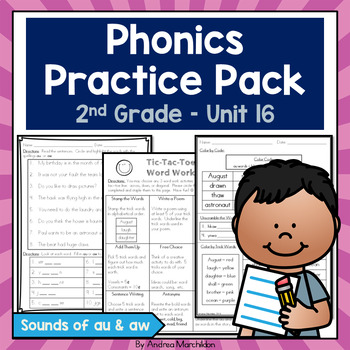 Phonics Practice Pack Unit 16 - Second Grade Sounds of au & aw