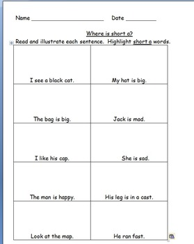 Phonics Practice Pages