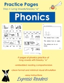 "Phonics Practice Pages - Sneaky ""e""/Long Vowel"