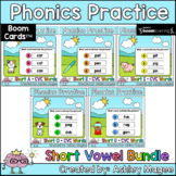Phonics Practice Short Vowels CVC Words Boom Cards Bundle