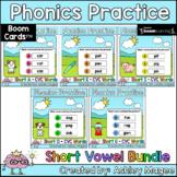 Phonics Practice Short Vowels CVC Words Boom Cards Bundle