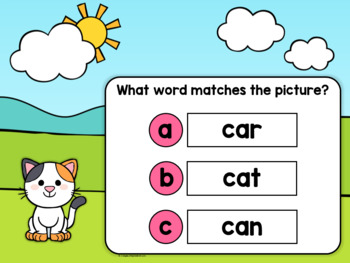 Phonics Practice Short a CVC Words - Free Boom Cards