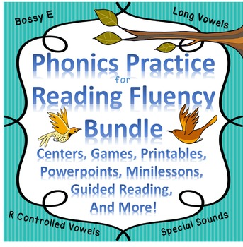 Reading Fluency Digraphs, R-Controlled Vowels, Sight Words Centers/Activities