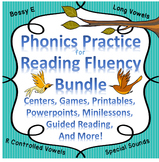 Reading Fluency Digraphs, R-Controlled Vowels, Sight Words