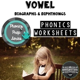 Vowel Digraph and Diphthong Worksheets: Phonics Prep Series