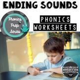 Ending Sounds Worksheets: Phonics Prep Series