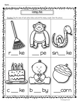 Phonics Prep: Vowels (Medial Sound) Worksheets