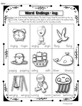 Phonics Prep: Word Endings