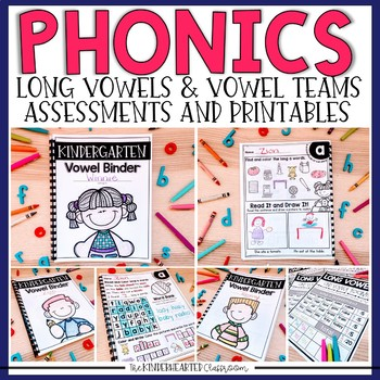 Phonics Printables - Long Vowels and Vowel Team Assessments and Printables