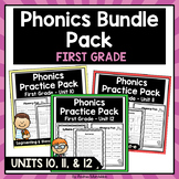 Phonics Printable Bundle Pack First Grade Units 10, 11, & 12
