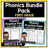 Phonics Printable Bundle Pack- First Grade Units 13 & 14