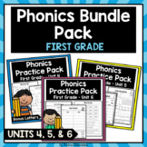 Phonics Printable Bundle Pack First Grade Units 4, 5, & 6