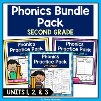 Phonics Printable Bundle Pack Level 2 - Units 1, 2, & 3