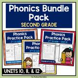 Phonics Printable Bundle Pack Second Grade - Units 10, 11, & 12