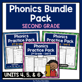 Phonics Printable Bundle Pack Second Grade - Units 4, 5 & 6