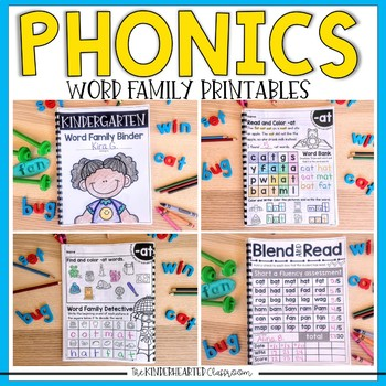 Phonics Printable and Assessments for CVC Words and Short Vowels