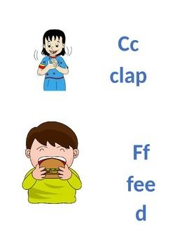 Phonics Printable Game: Consonant Letter Action Cards