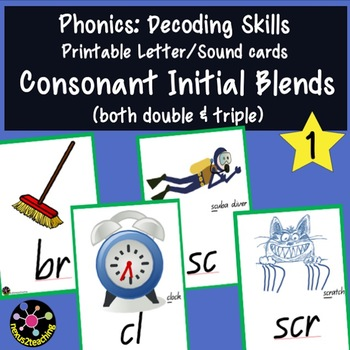 Phonics: Consonant Initial Blends Printable Letter/Sound Cards 1