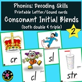 Phonics: Consonant Initial Blends Printable Letter/Sound Cards 2