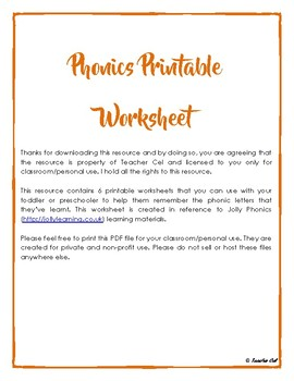 Phonics Printable Worksheet