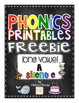 Phonics Printables- Long Vowel a_e Freebie!