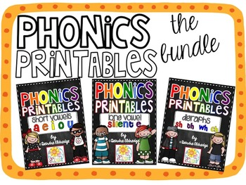 Phonics Printables {THE BUNDLE} Common Core Aligned