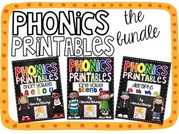 Phonics Printables {THE BUNDLE} Common Core Aligned
