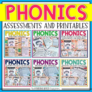Phonics Printables and Assessments - ABC's, Short Vowels, Long Vowels and MORE!!