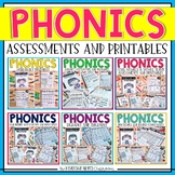 Phonics Printables and Assessments - ABC's, Short Vowels,
