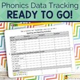 Phonics Progress Monitoring Tracking Sheets BUNDLE | Easy