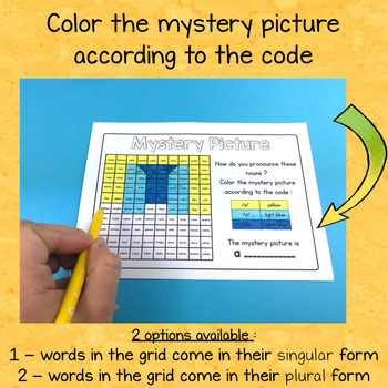 Phonics : Pronunciation of Plural Nouns - 9 Mystery Pictures