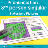 Phonics : Pronunciation of verbs - 3rd person singular Mystery Pictures