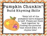 Literacy Center Puzzle: Pumpkin Rhyming Activity Word Work