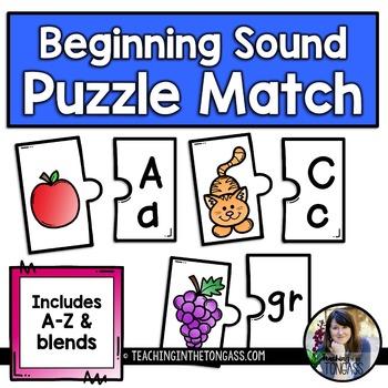 Beginning Sound Puzzle Activity