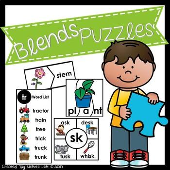Phonics Puzzles:  Blends