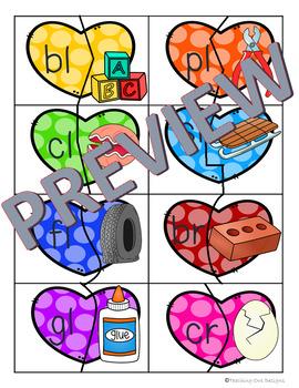 Phonics Puzzles February: Color & blackline!