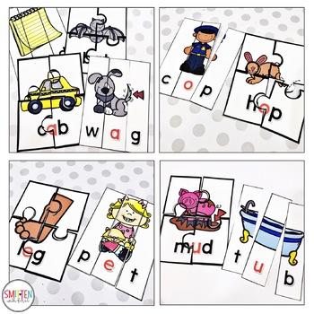 Phonics Puzzles cvc (short a, e, i, o, u)