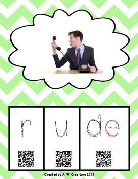 Phonics QR Code Task Cards - Long Vowels CVCe (Long u)