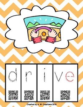 Phonics QR Code Task Cards - Long Vowels (Long i CVCe) **FREEBIE**