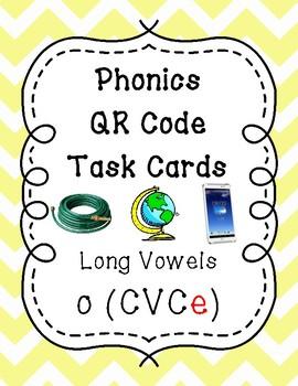 Phonics QR Code Task Cards - Long Vowels (Long o CVCe)
