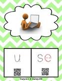 Phonics QR Code Task Cards - Long Vowels (Long u CVCe) **F