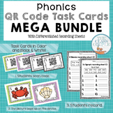 Phonics QR Code Task Cards Mega Bundle