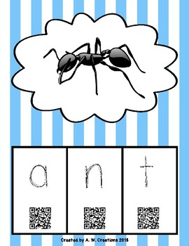 Phonics QR Code Task Cards - Short Vowels (Short a)