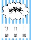 Phonics QR Code Task Cards - Short Vowels (Short a to u) *