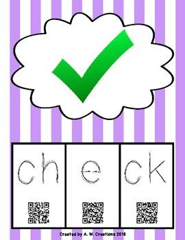 Phonics QR Code Task Cards - Short Vowels (Short e)